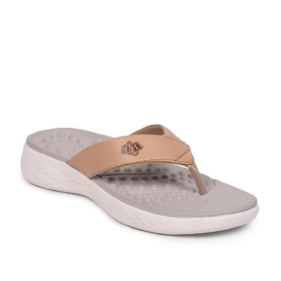 A-HA By Liberty Beige Flip Flop Slippers For Womens (IMPACT-33E) A-HA