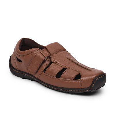 Coolers By Liberty Tan Formal Office Sandals For Mens (LPM-429 ) Coolers