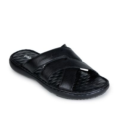 Coolers Men's Black Casual Slippers Coolers