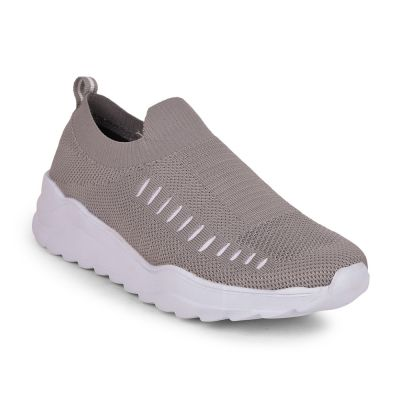 Force 10 Mens Grey Sports Non Lacing Walking Shoes (NEOKS-1) Force 10