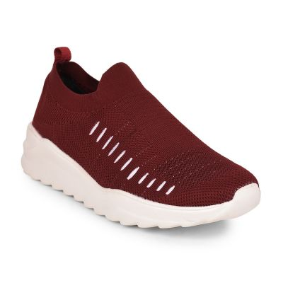 Force 10 Mens Maroon Sports Non Lacing Walking Shoes (NEOKS-1) Force 10