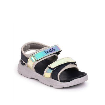 Lucy & Luke By Liberty Navy Blue Casual Sandals For Kids (RICKY-20) Lucy & Luke