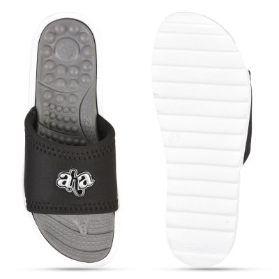 AHA Black Casual Slippers For Womens (WAGAS-10 ) A-HA