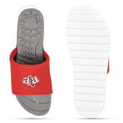 AHA Red Casual Slippers For Womens (WAGAS-10 ) A-HA